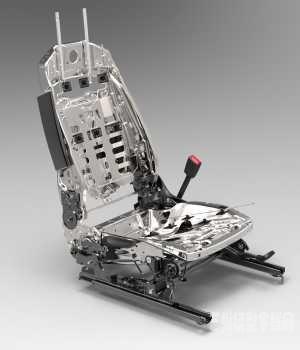 乘用汽车座椅骨架结构proe工业结构设计3D图纸三维模型资料建模