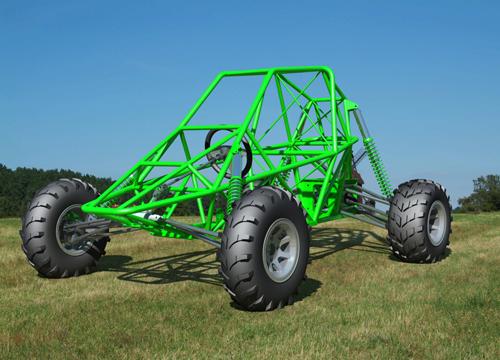 全地形四轮车越野车钢管沙滩车设计图纸3D三维模型设计资料建模