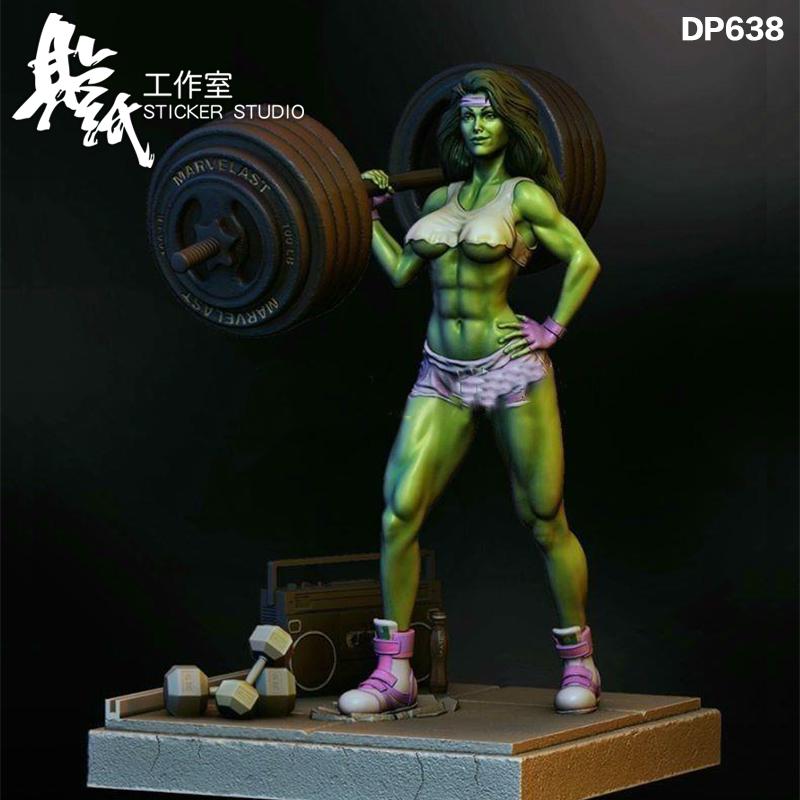 漫威女浩克绿巨人雕像模型高精度3D打印数据图纸GK树脂白模定制